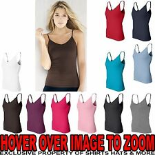 Bella Ladies Cotton Spandex Camisole Tank Top Shelf Bra Womens Yoga Dance S-2XL