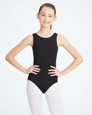 Capezio CC201C 9906C tank leotard high neck black pink burgundy cotton girls new