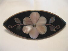 ABALONE SHELL & SILVER HAIR BARRETTE CLIP TAXCO MEXICO *22 OPTIONS* NEW MEXICAN