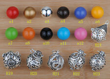 925 sterling Silver Harmony ball Mexican Bola PENDANT Diy choice H19-H24