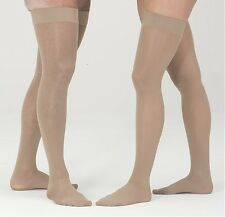Mediven Plus 30-40 mmHg Closed Toe Thigh High Stockings with Silicone Top Band