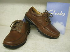 Clarks Scahill Path Brown Leather Casual Lace Up Shoes