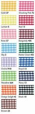 Berisfords Quality Gingham Ribbon 10mm X 20m Reel 15 Colours In This Listing