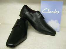 Clarks Chilton Lace Black Leather Formal Lace Up Shoes