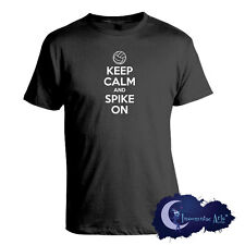 Keep Calm and Spike On Men's T-Shirt for Volleyball Players, Coaches and Fans