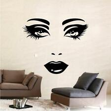Sexy Face Eyes Lips WALL STICKER QUOTE ART Bathroom Kitchen Bedroom Living Woman