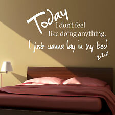Bruno Mars - Lazy Song Lyrics - Vinyl Wall Art Sticker Decal