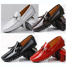 Fulinken US6-12 patent Leather Mens Slip On Tassel loafer MEN CAR Shoes  [JG]