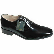 Mens Black Leather Lace Up Patent Wedding / Formal Shoes Size 6 7 8 9 10 11 12