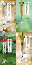 Woodstock - STARLIGHT CHIMES - Gold, Green, Red, Silver Wind Chime Windchime 10""