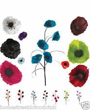 Silk Poppy Flower Stem In Many Colours - Artificial 5 Head Adjustable Poppies