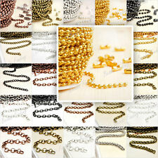 Iron Unfinished Ball/curb/cable/rollo link chains wholesale F bracelect necklace