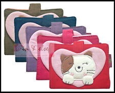 100% Cotton Credit Name Card Holder LUCKY CAT HEART