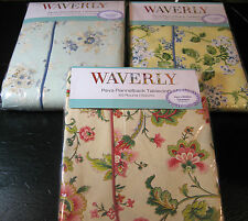 WAVERLY PEVA FLANNEL BACK TABLECLOTHS- ASSORTED PATTERNS-OBLONG AND ROUND
