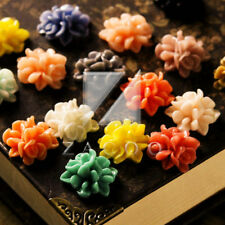 15X15MM DIY Resin Vintage Style Flower Flatback Cabochons For Pendants Rings
