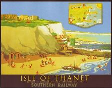 Vintage Southern Railway Isle of Thanet Kent Railway Poster A3 / A2 Reprint