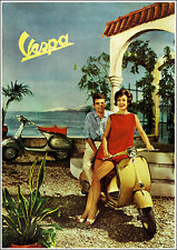 Vespa 1960's Showroom Classic Scooter  Picture Poster Print A1 3 variations