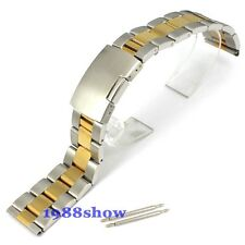 New Lug Width 18-28mm Two Tone Solid Stainless Steel  Bracelet Strap Watch Band
