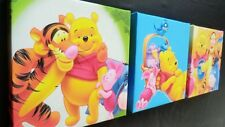 3 X DEEP EDGE CANVAS PICTURES with BRIGHT WINNIE THE POOH  free p&p new