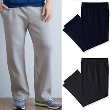 Fruit of The Loom Mens Open Bottom Sweatpants With Pockets S-2XL NEW Tagless