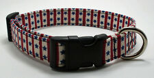 Handmade Custom Designer Stars & Stripes Dog Collar