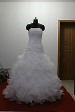 New White Strapless  Bride gown Wedding Dress Stock Size 6 8 10 12 14 16