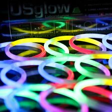 "100 8"" Premium Glow Stick Bracelets (10 colors) +bonus items"