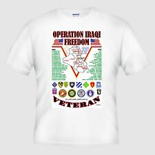 OPERATION IRAQI FREEDOM VETERAN(OIF) UNIT & OPERATION AMERICAN MILITARY SHIRT