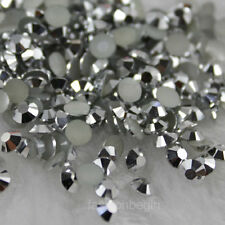 1000-10000pcs 2mm-6.5mm 14 Facets Resin Rhinestone Flatback Multiple Color