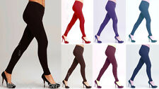 Winter Warm Thick Womens Cotton Leggings Full Length All Sizes 8-24