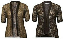 NEW LADIES PLUS SIZE DIAMONTE DETAIL FLORAL LACE GLITTER POLKA DOT CARDIGAN12-26