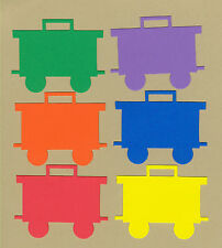 Your choice of colors on Cabooses Die Cuts - AccuCut