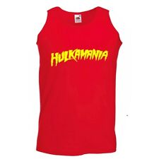 Hulkamania vest top hulk hogan fancy dress wwf mens personalised vest