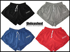 UNLEASHED BODYBUILDING/RUNNING/GYM SHORTS. WEIGHTLIFTING OLD SCHOOL ARNOLD STYLE