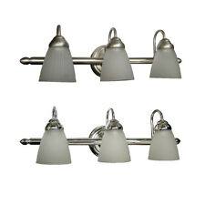 Brushed Nickel Or Chrome 3 Light Fluorescent Bath Wall Fixture 24""