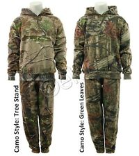 Boys Camo Suit Camouflage Tracksuit Hoodie and Jogging Bottoms