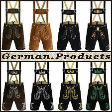 Authentic German Bavarian Oktoberfest Trachten Short Length / Kurze Lederhosen,