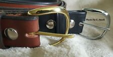 Handmade Amish Leather  Work  Belt for Men or Women  with Plain Buckle