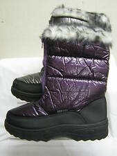 Ladies Reflex Zip Up Snow Boots with Faux Fur Trim & Lining F4334
