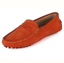 suede Leather SLIP-ON Casual penny Loafer ladiess ballet flat shoes  [JG]