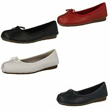 "***Sale** Clarks ""Freckle Ice"" Womens Leather D Width Fitting Shoes"