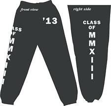 Class of 2013, 14, 15, 16 Sweatpant Graduating MMXIII, MMXIV, MMXV, MMXVI Fleece