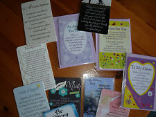 KEEPSAKE CARDS - SISTER, MUM SON, BE STRONG, ANGEL, WORDS OF SUPPORT + MORE
