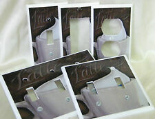 Art Deco Cafe Latte Coffee Kitchen Decor Light Switch Cover Plate Outlet Double