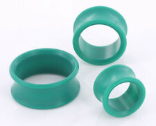 """GREEN PROPYLUX Double Flare Plugs 5/8"""" up to 1-3/8"""" - Price Per 1"""