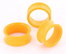 """Yellow PROPYLUX Double Flare Plugs from 5/8"""" up to 1-3/8"""" - Price Per 1"""
