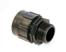"""IBC ADAPTER Fitting to 1-1/2"""" BSP MALE THREAD (1.5"""") Storage Tank Water Oil Tote"""