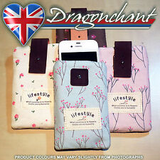 Floral Fabric Mobile Pouch IPhone Cover Nokia Samsung Ladies Stocking Filler