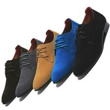 US 5-9 Synthetic Nubuck Leather lace up Business Shoes wedding mens shoes  [JG]