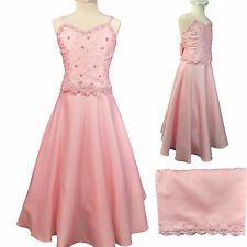 New Teen Girl Pink Graduation Pageant Wedding Party Formal Dress sz 10 12 14 16